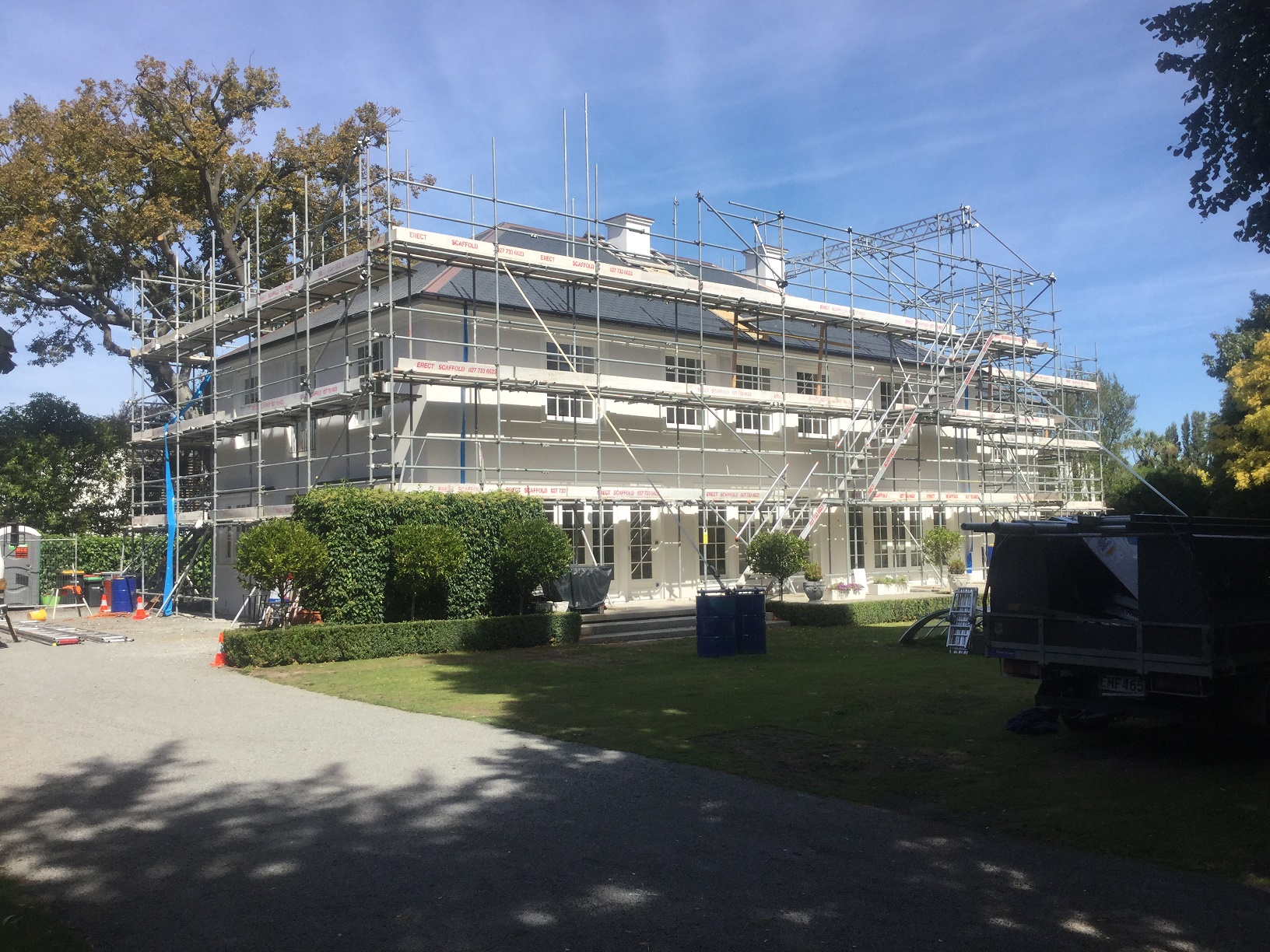 Roof Edge Protection Scaffolding Services Christchurch Canterbury