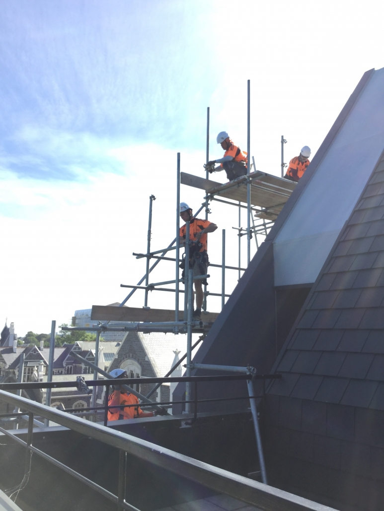 Roof edge Protection Scaffolding Christchurch and Canterbury